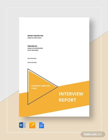 interview report template