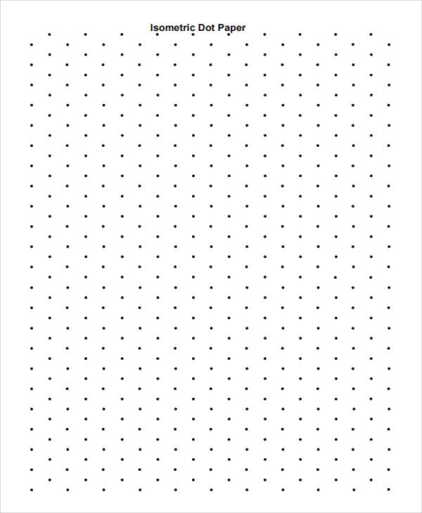 isometric dot paper sample