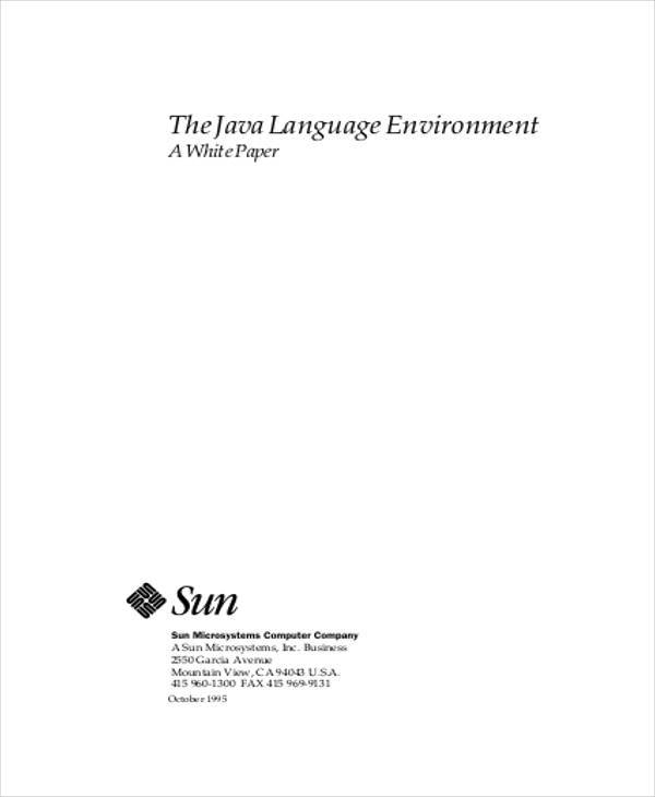java language white paper1