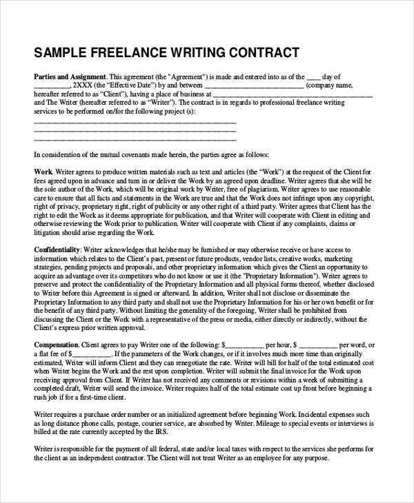 job contract proposal