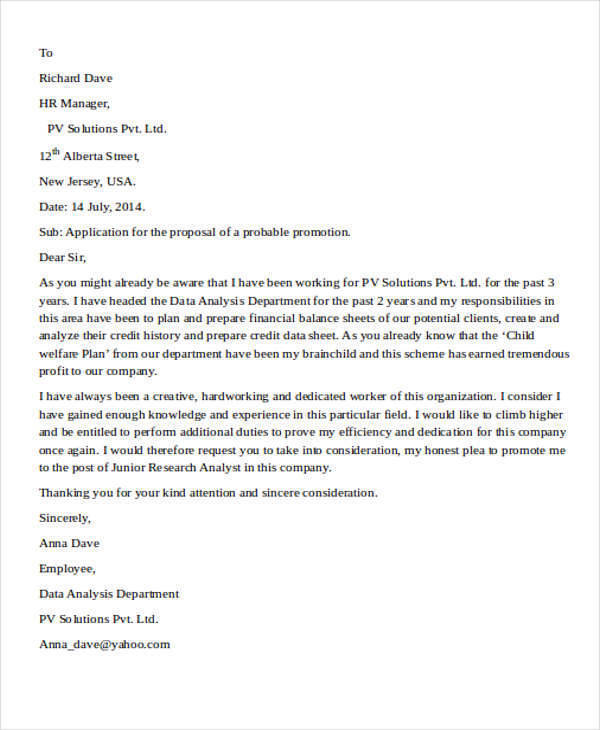 job promotion proposal1