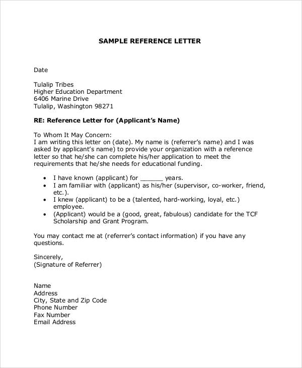 Job Reference Thank You Letter Samples