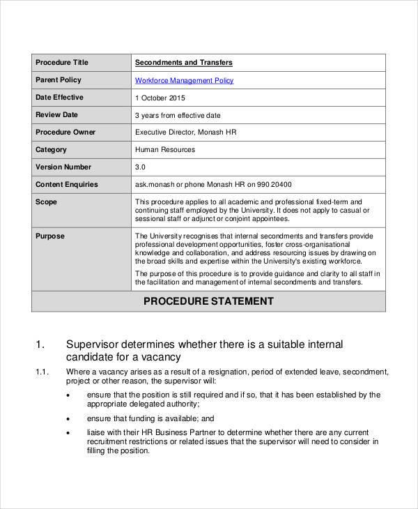 job transfer proposal