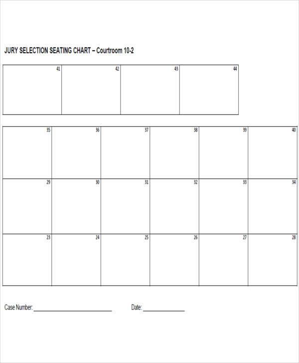 jury seating chart