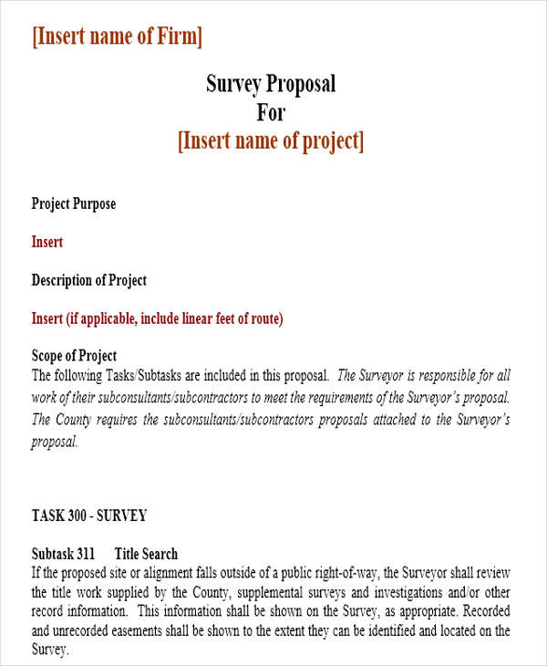 43 Project Proposal Formats Sample Templates