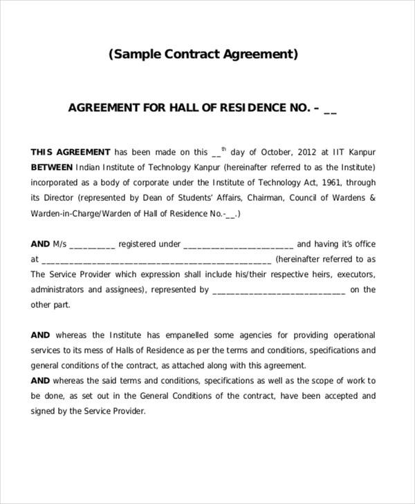 legal contract agreement pdf