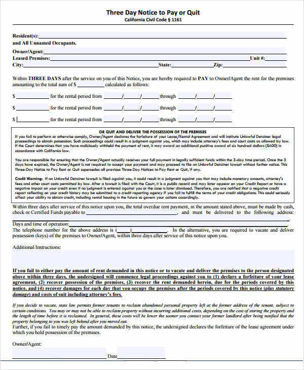 legal eviction form