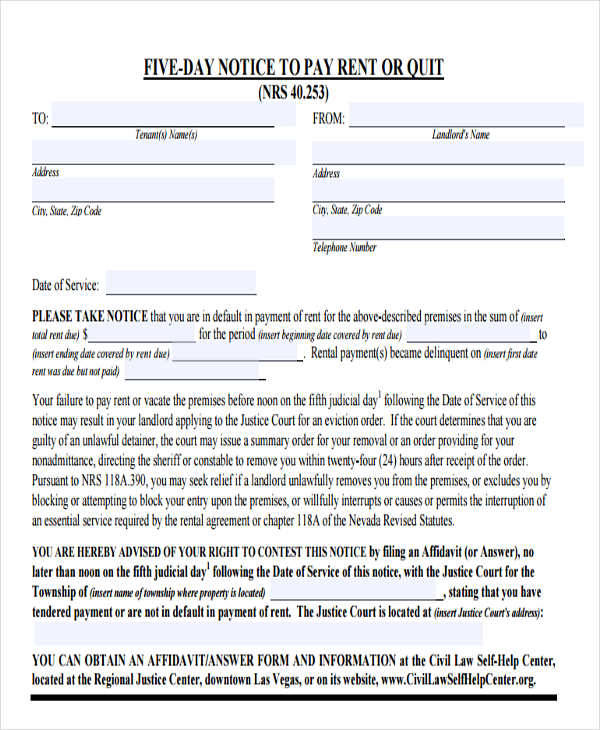 legal eviction form3