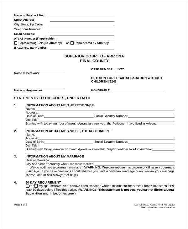 legal separation petition2