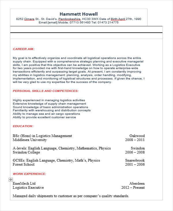 logistics operation executive2