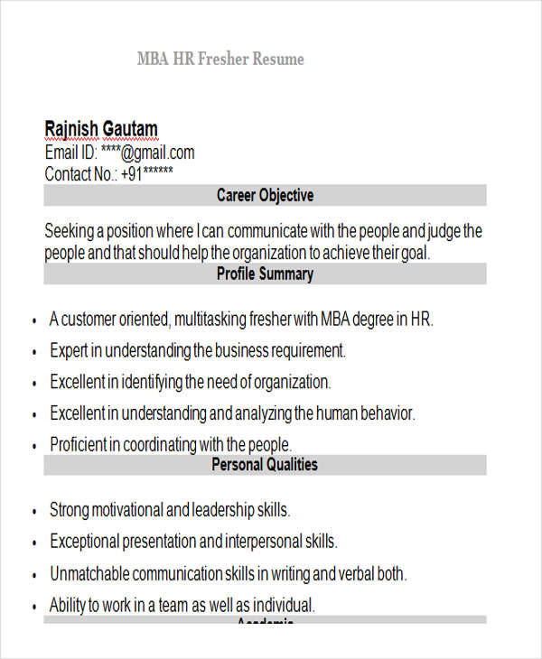 modern free resume format download for mba freshers over 10000 cv