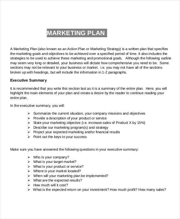 marketing plan research1