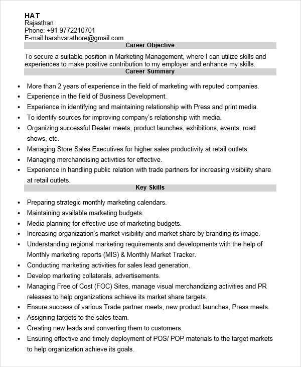 marketing sales resume1