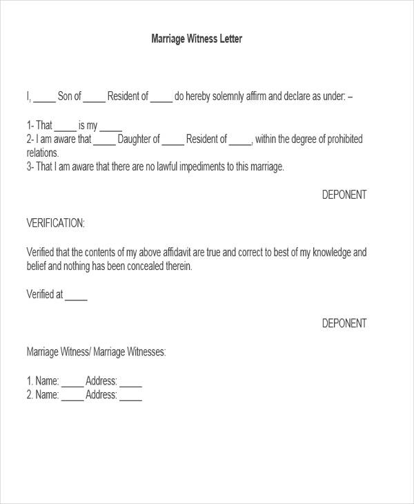 Witness Letter Template A Sample Witness Statement Sample Of