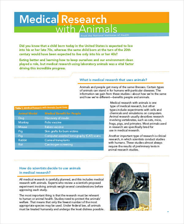 medical research on animals