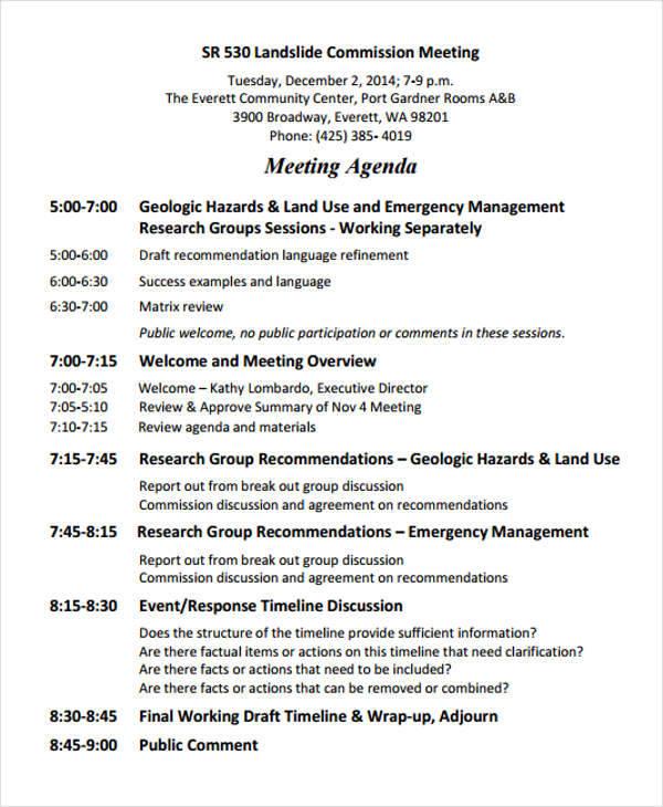 meeting agenda2