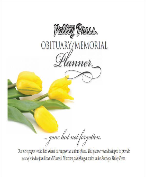 memorial obituary sample