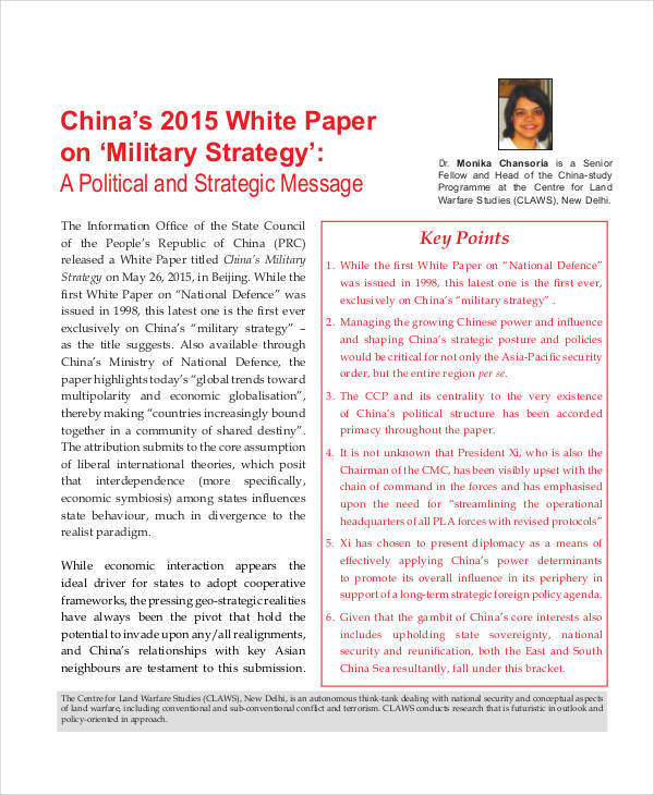 military strategy white paper1