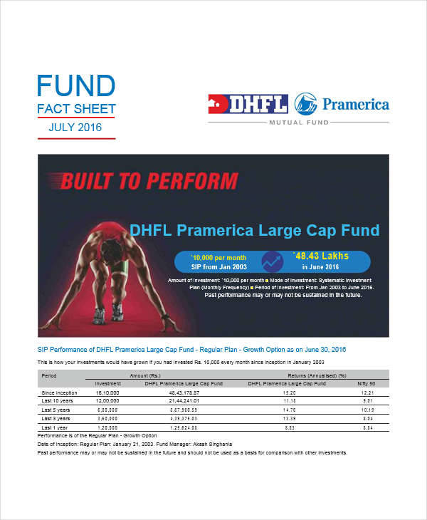 mutual fund sheet