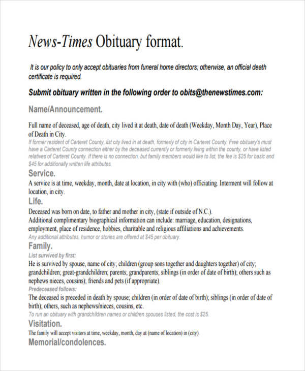 newspaper obituary format2
