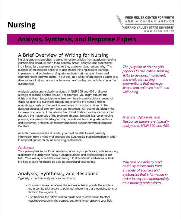 Nursing essay topics