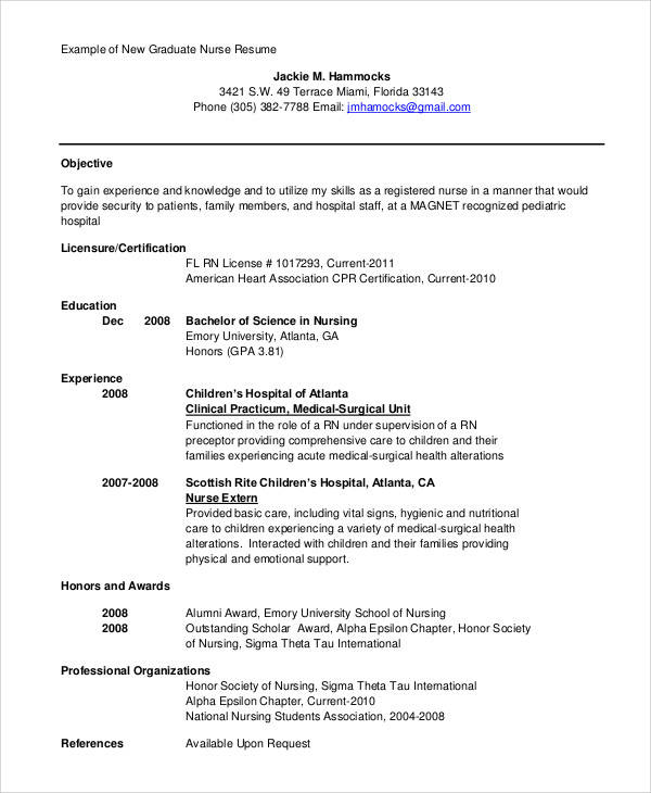 Nursing Resume Objective. Nursing Resume Objective Nursing Resume ...