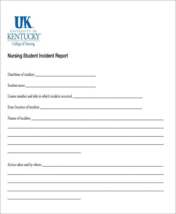 nursing student incident report1
