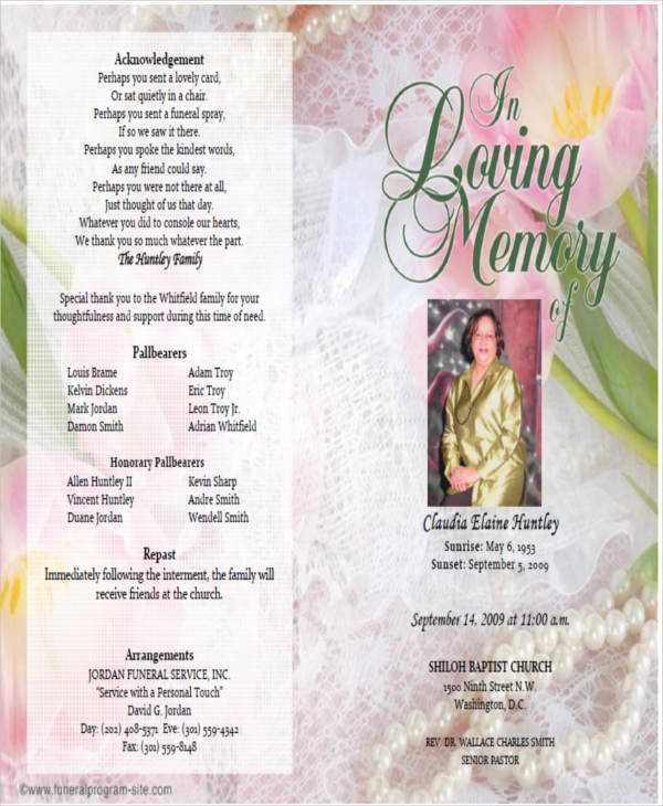 Printable Obituary