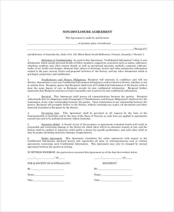 Delightful Personal Confidentiality Agreement Format