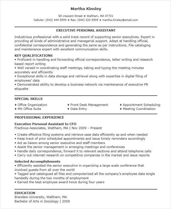 personal executive assistant