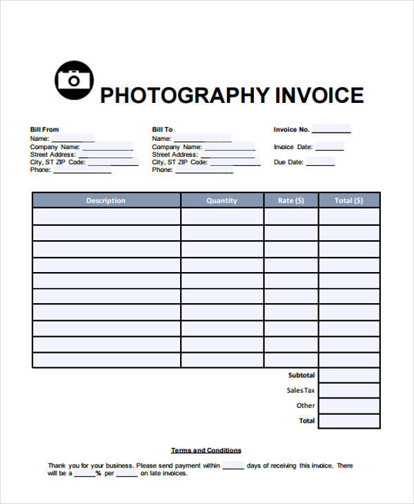 photography services bill1
