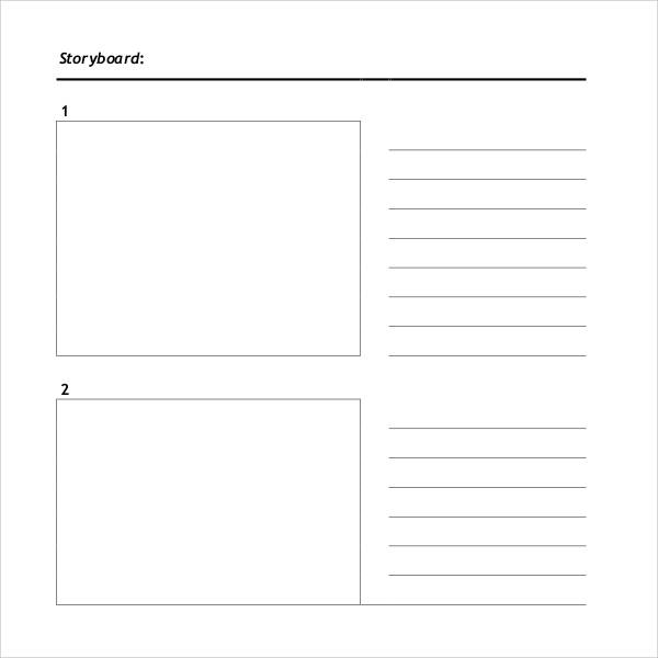 plantilla storyboard template
