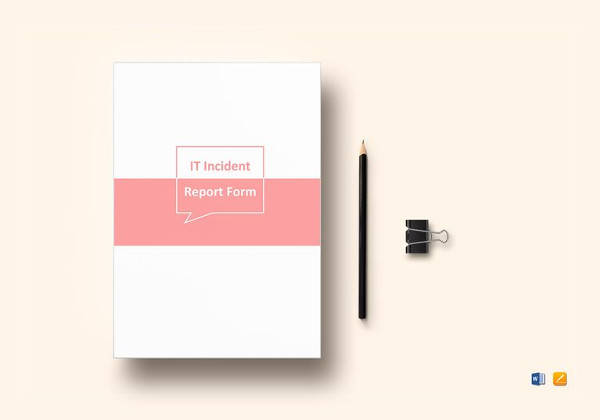 printable it incident report template