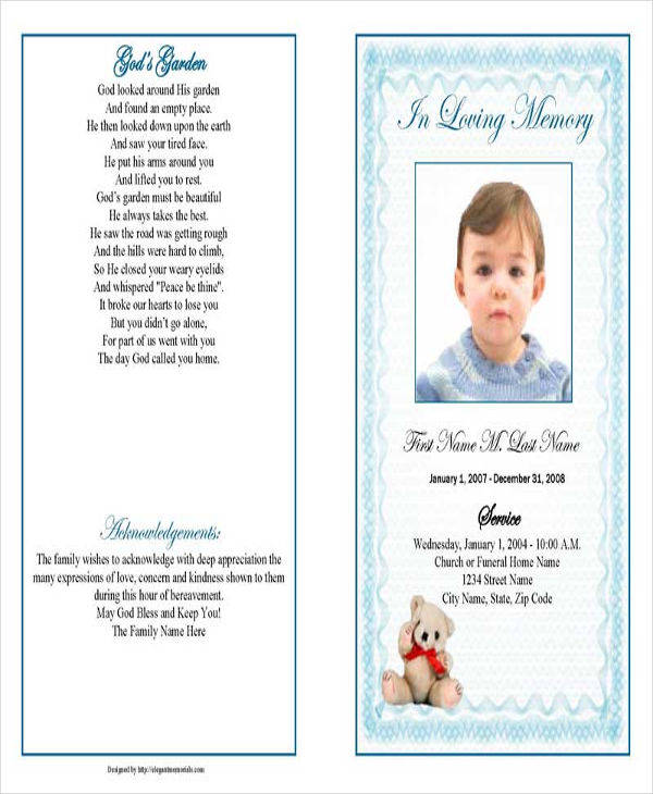 printable obituary template
