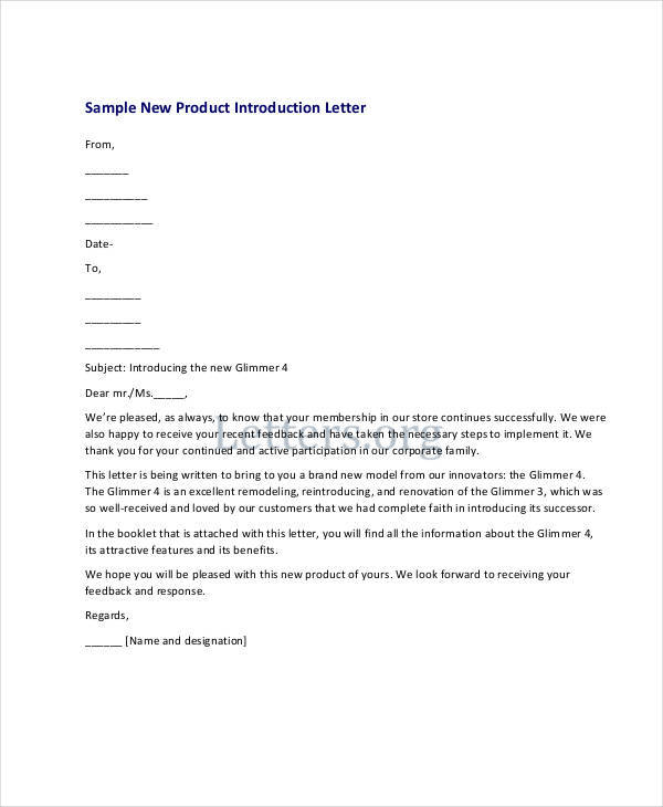 32 Introduction Letter Formats