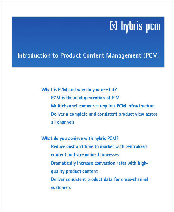 product management white paper