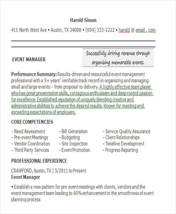 Event Manager Resume. Fresh Affiliate Manager Sample Resume Resume