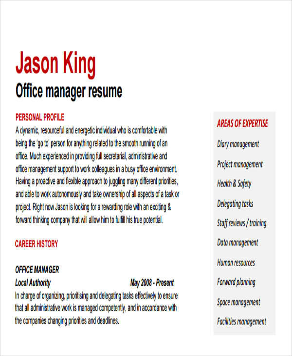 professional office services manager