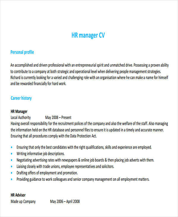 26+ Professional Manager Resume