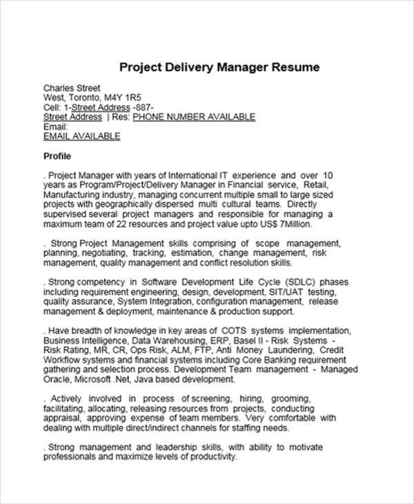 project delivery manager