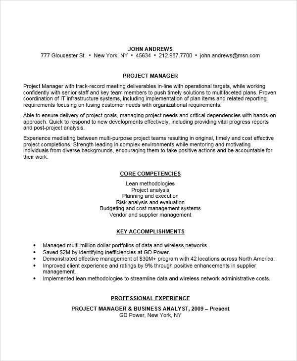 wireless project manager resume - Romeo.landinez.co