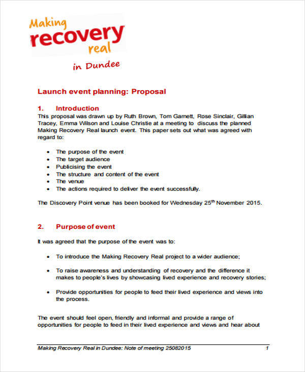 property launching event proposal
