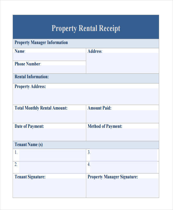 property rent payment