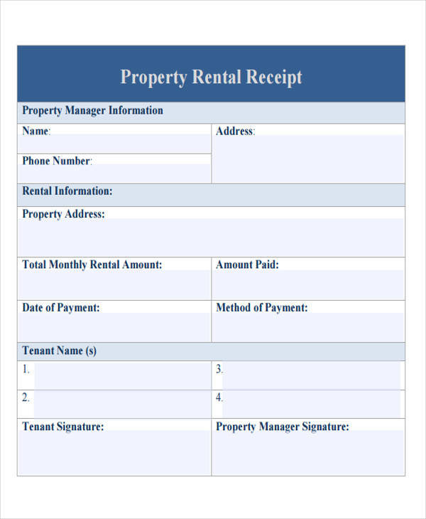 property rental bill