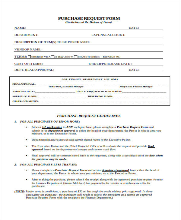 purchase requisition form doc