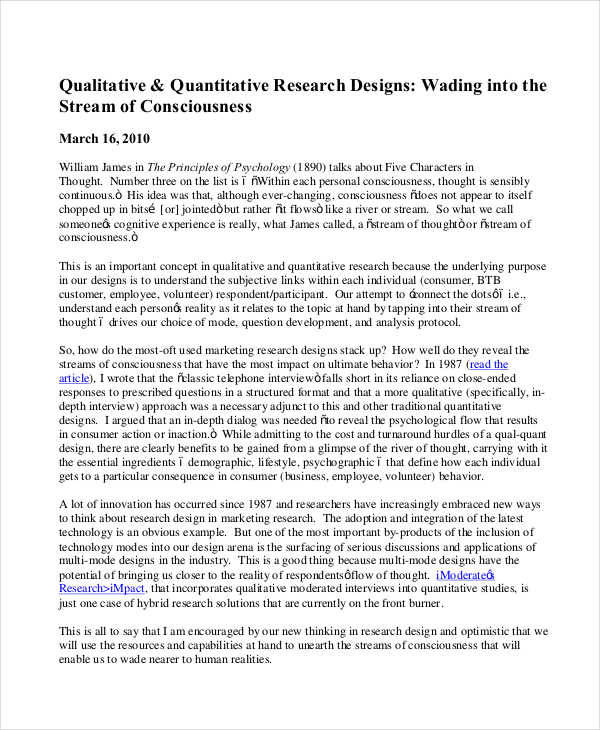 research paper formats qualitative quantitative research design