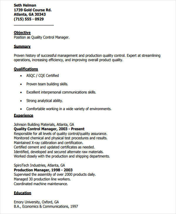 56  manager resume templates