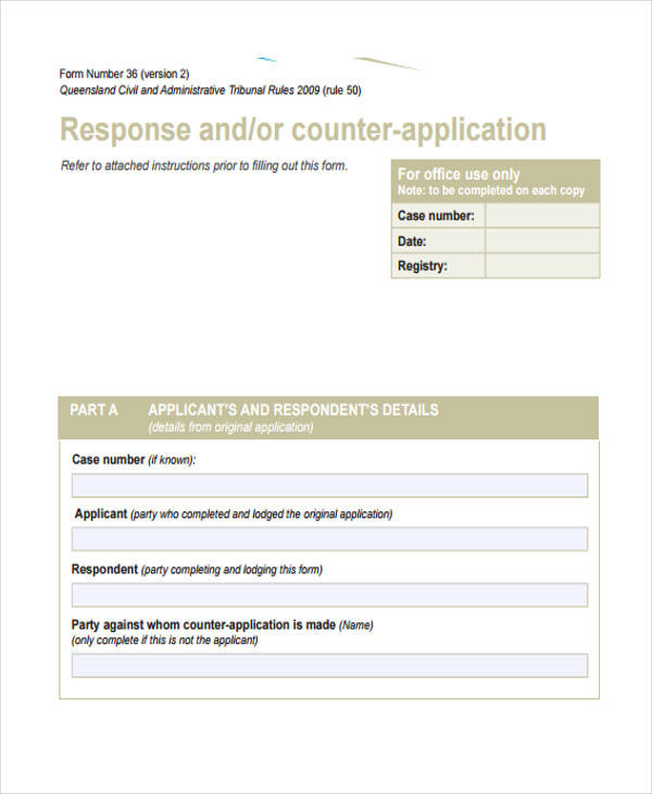 reply to counter affidavit form