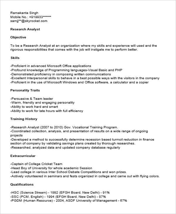 Free 40 Fresher Resume Examples In Psd Ms Word