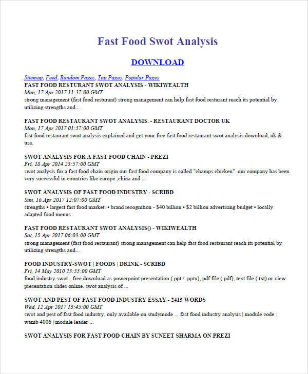Swot analysis of nepali restaurants | Coursework Sample - June 2019